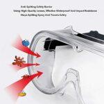 Adesign 2pcs Verres de sécurité, Sciences de protection Cast Empêcher les lunettes anti-poussière anti-poussière Verres anti-poussière anti-poussière lunettes de protection de la vapeur pour la vie qu