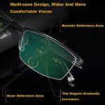 COSCANA Lunettes De Lecture Multi-focalisées Progressives pour Femmes Et Hommes, De Loin Et à Proximité des Lunettes Bloquantes De La Lumière Bleue, De Lunettes Légères, Noir(Size:4.0X)