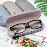 solawill Étui à lunettes rigide en lin,Étui à Lunettes Rigide Étui rigide pour lunettes de vue pour lunettes et lunettes de soleil Convient pour Enfants Et Hommes et Femmes (4 couleurs)
