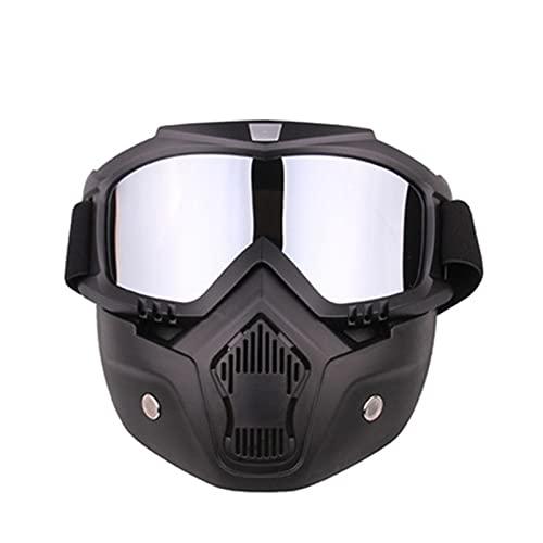 Verres de moto Masque Rétro montée entier Masque de masque Verres Verres Cross-Pays Pays Pays-Pays Lunettes Ski Lunettes Sports Plein air Vélo Vélo Vélo Full Fain Headwear de masque ( Couleur : B )