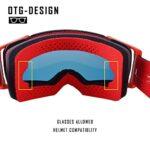 ZHOUSAN Lunettes de protection pour motocross et VTT, pour activités en plein air, alpinisme et ski, verres rouges