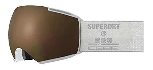 Cébé Icone x Superdry Masque de Ski Unisex-Adult, White Shiny, Large