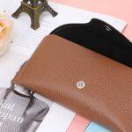 Étui à lunettes en cuir durable Lunettes de soleil Shell Hard Protector Box Portable Travel Slip In Pouch Bag pour hommes et femmes ou enfants