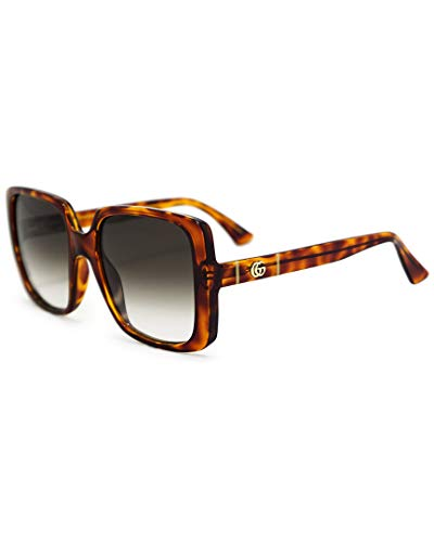 Gucci Lunettes de Soleil GG0632S HAVANA/BROWN SHADED 56/20/145 femme