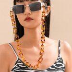 Sethexy Léopard Mode Chaîne de lunettes de soleil Acrylique Chaîne de lunettes Femmes Lunettes Accessoires pour lunettes et Des lunettes de soleil