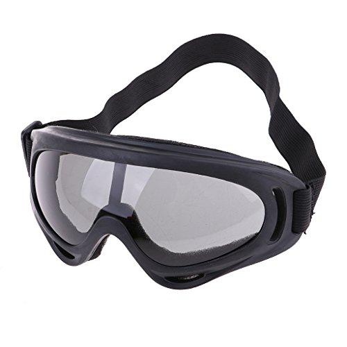 SM SunniMix Lunettes de Ski de Motocross à Moteur Lunettes de Neige Lunettes Coupe-Vent – Noir, Taille Réglable