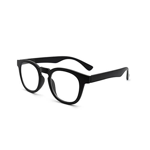 WWWL Lunettes de Lecture, Lunettes de Lecture Transparentes Verres Rondes Femmes Lunettes Presbyopia (Color : Black, Size : +200)