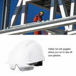 Chapeau de Travail de sécurité, Chapeau de sécurité à la Mode Casque de défense de sécurité de Ventilation Anti-buée Pratique pour équipement de sécurité pour équipement de(Blanche)