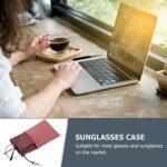 Hemoton Lot de 2 étuis à lunettes souples et portables pour femme – Couleurs assorties