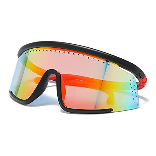 HUGMIN Lunettes De Vélo, Lunettes de vélo en Plein air Vélo de Montagne Vélo Lunettes de Soleil Vélo Sunglasses Hommes Femmes Vélo Eyewear MTB Sports Sunglasses UV400 (Color : C2)