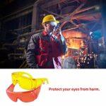 Lunettes de protection contre le travail industriel – Verres en polycarbonate – Anti-buée – Anti-UV – Anti-impact