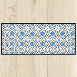 tapis cuisine vintage azul