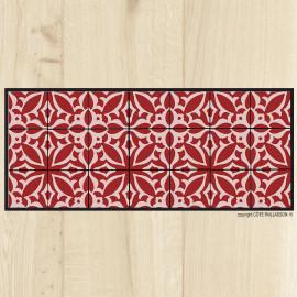 tapis cuisine carreaux vintage sienne