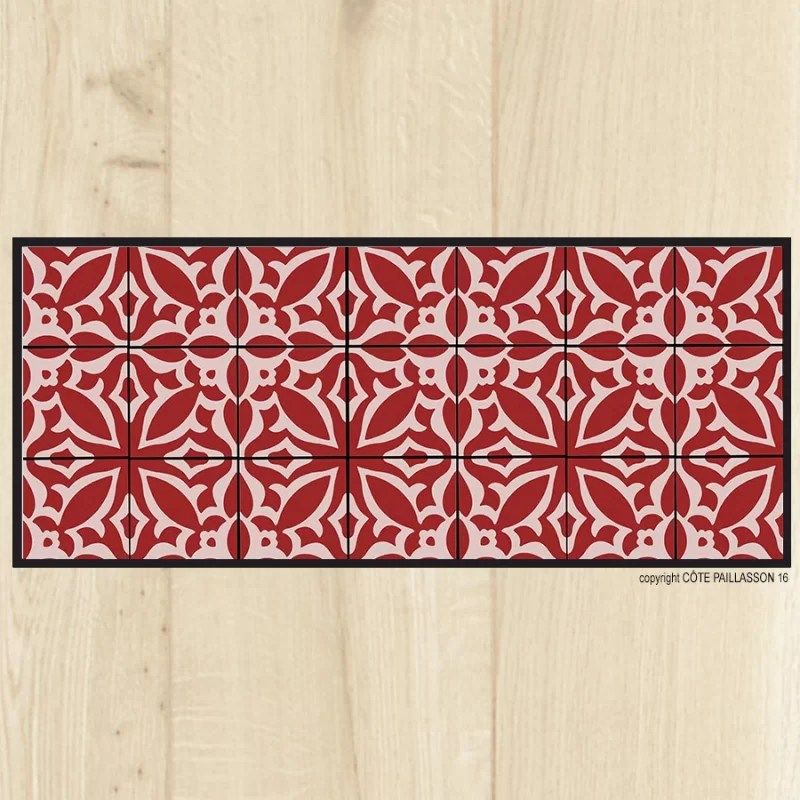 tapis cuisine carreaux sienne tapis cuisine rouge tapis cuisine carreaux rouges