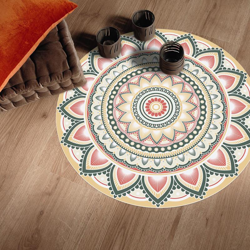 tapis vinyle rond design de grande qualite