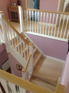 80/20 wool hall stairs & landing carpet in Cirencester, Gloucestershire.