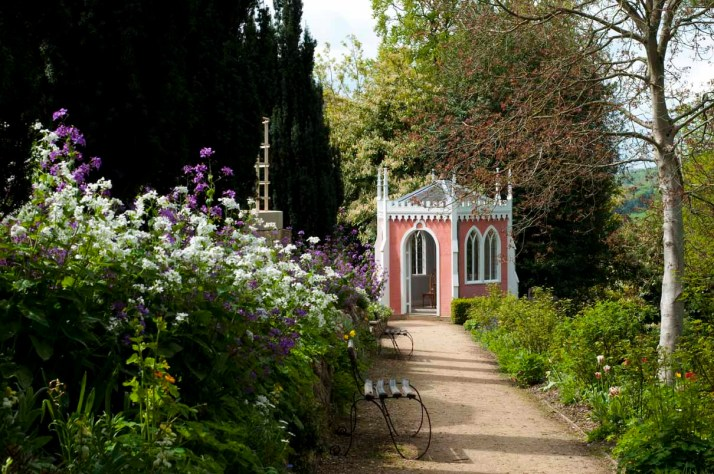 The Eagle House in spring, Painswick Rococo Garden, The Cotswolds
