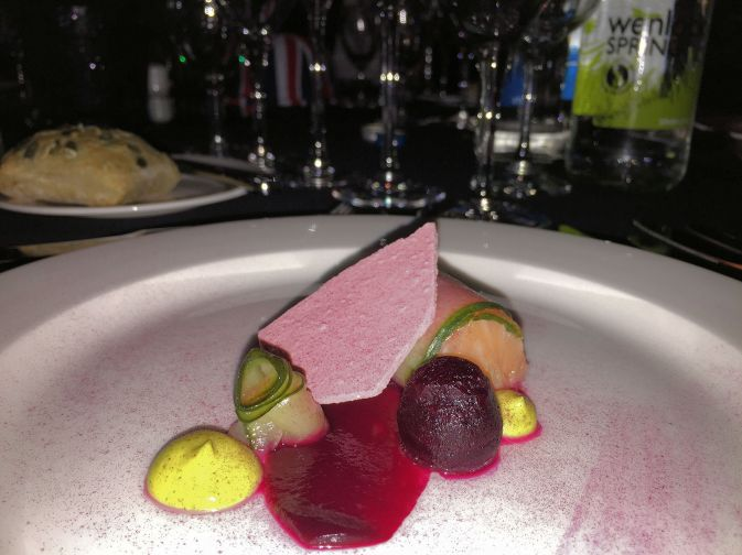 Loch Duart Salmon, Cucumber & Beetroot.