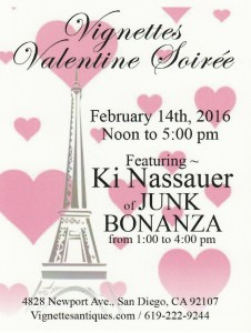 Vignettes Valentines  Soiree February 14th Noon-5