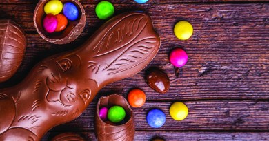 Easter bunny and smarties