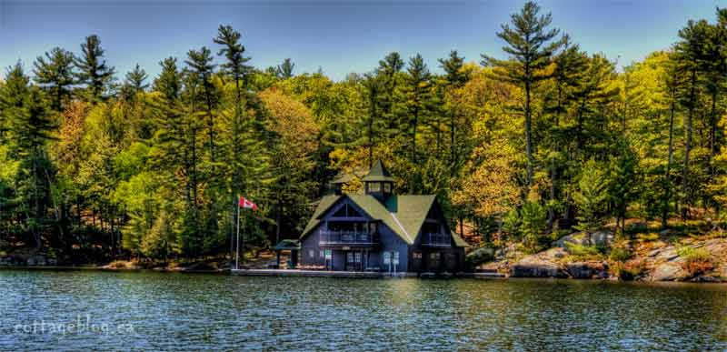 Cameron Island Boat House On Lake Joseph Muskoka Blog