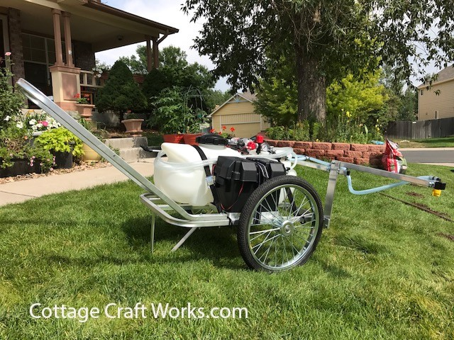 Building Garden Cart Bicycle Wheels