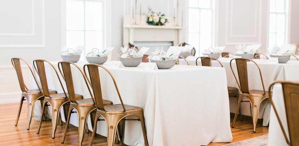 Farmhouse Table fully styled at event