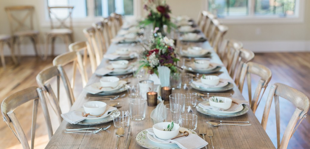 Wedding Rentals Raleigh Tablescape Long View