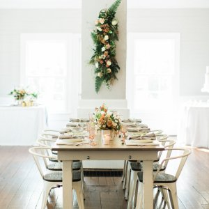 Look Book, Cottage Luxe Farm Table with Durham Copper Chairs