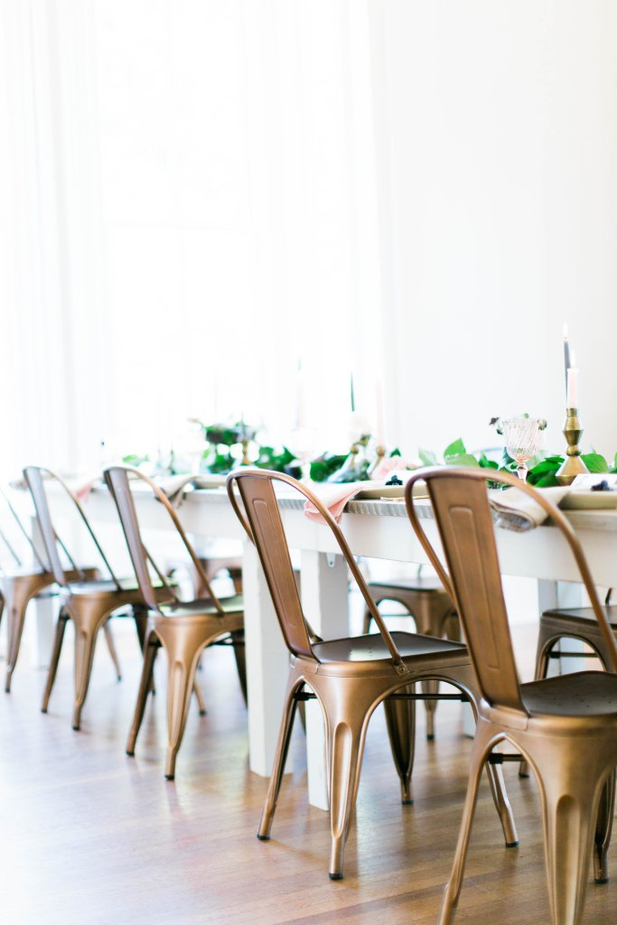 Guest Seating - Look Book, Copper Guest Seating Options for Small Intimate Gatherings