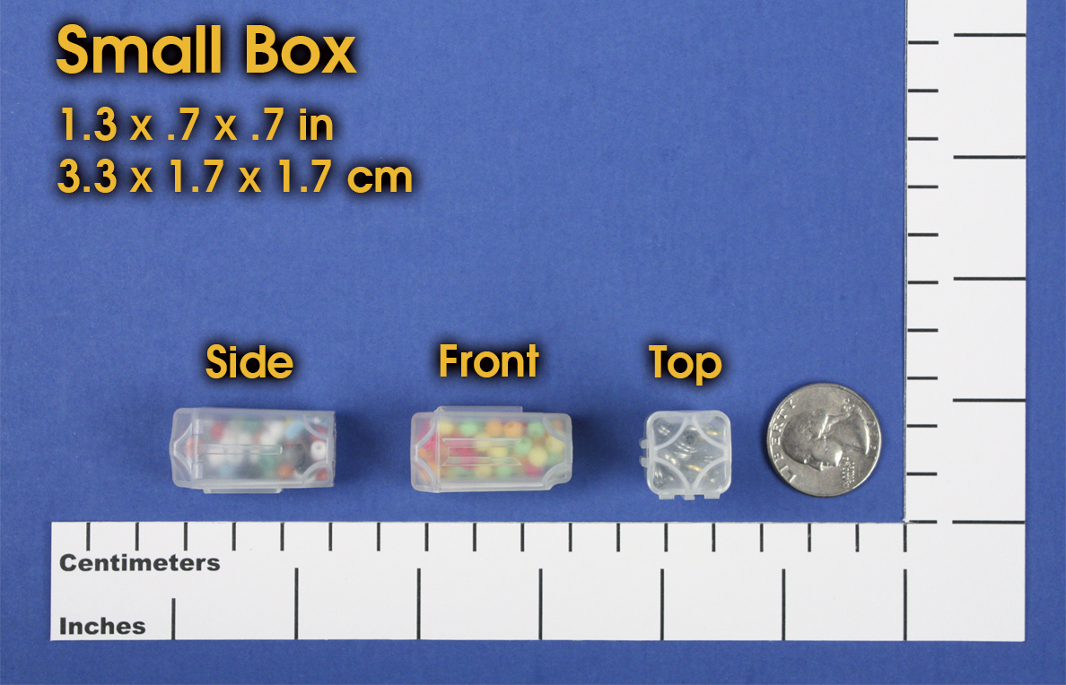 Little storage boxes for storing little things like beads DotBox Small Box 2 Packages of 16. findings and parts 32pcs from Cottage Mills Boxes fit inside DotBox carrying cases sold separately