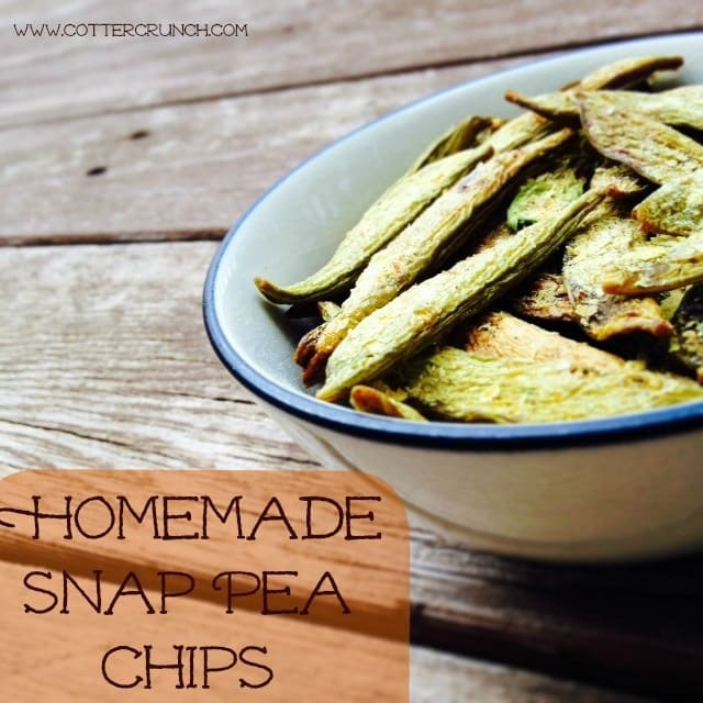 dehydrated homemade snap pea chips recipe
