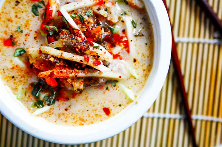 Tasty Thai Coconut Milk cabbage soup! Made with simple ingredients, delicious and paleo/vegan friendly. -