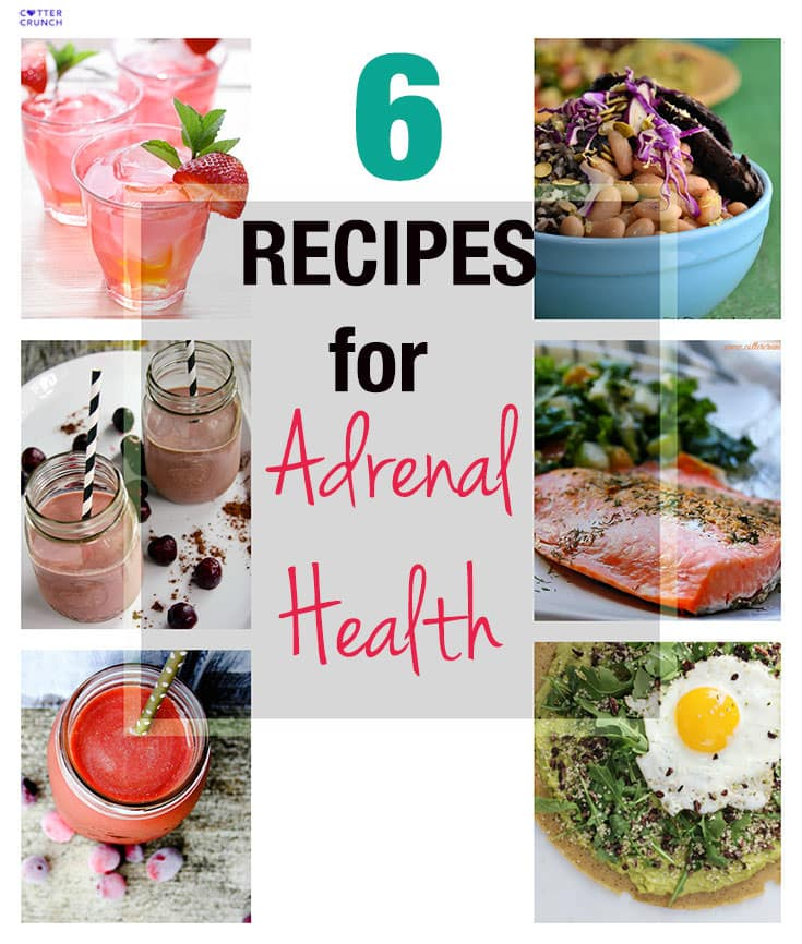 6 Healthy Recipes for Adrenal Health - What recipes are best for adrenal health? Look for foods and ingredients that are nutrient dense. That means lots of good healthy fats, protein, and rich in Vitamin C and Magnesium. And don't forget to the gluten free veggie starches! Timing is everything with these foods in order elevate or lower cortisol levels.