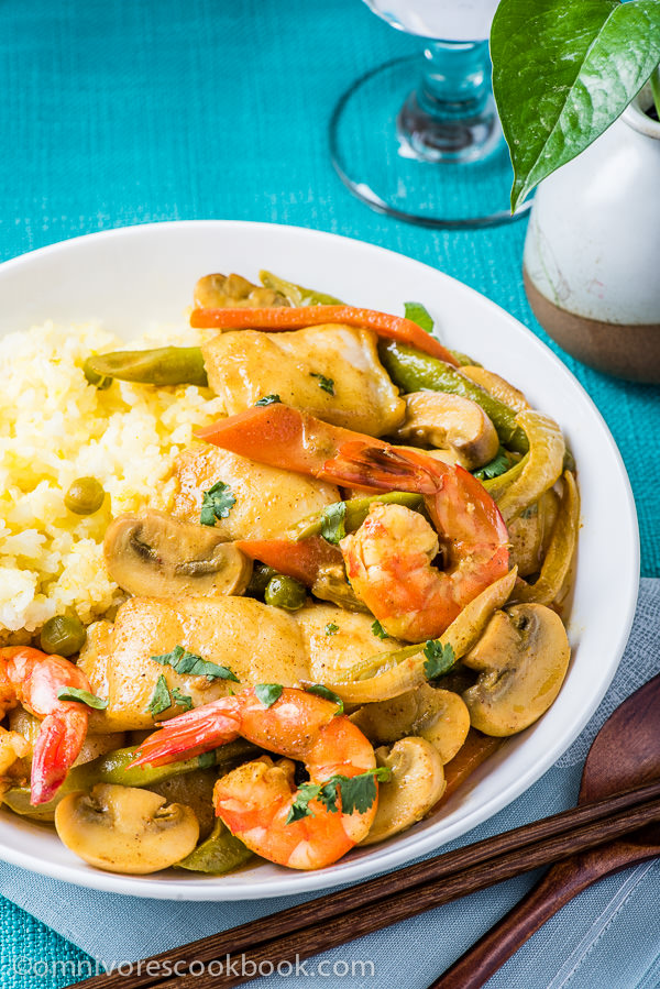 Fish curry from http://omnivorescookbook.com/recipes/coconut-fish-curry