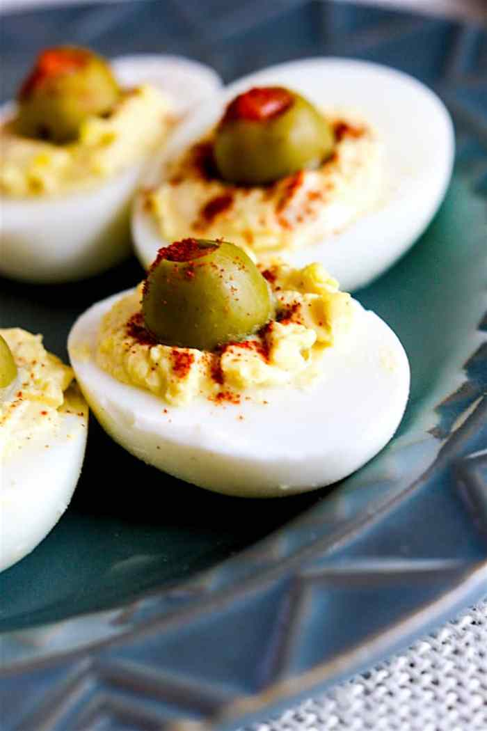 Creamy Olive Deviled Eggs