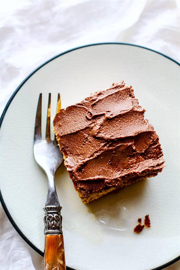 Easy Vegan White Cake With Chocolate Frosting Paleo Option