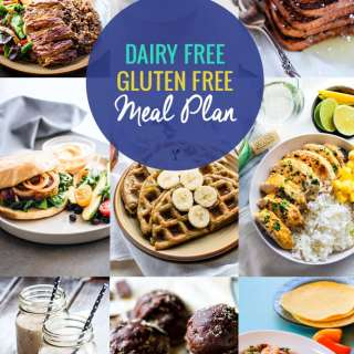 This simple, dairy free and gluten-free meal plan is full recipes and ideas that will provide nourishment and ease for you and/or your whole family.
