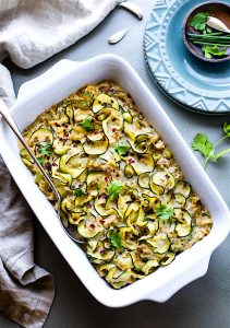 Paleo Tuna Green Chile Zoodle Casserole {Whole 30}