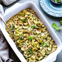 EASY Paleo Tuna Green Chile Zoodle Casserole {Whole 30}