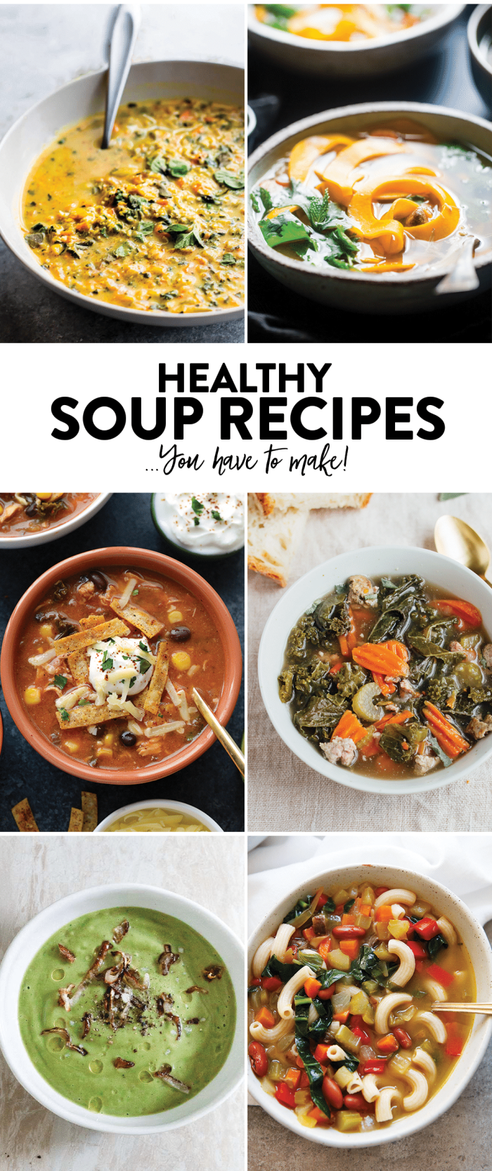 6 healthy soup recipes you have to make. Gluten free and full of nourishment! | CotterCrunch.com