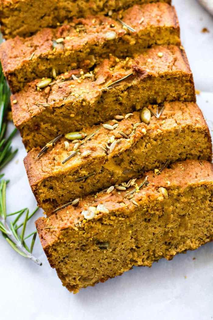 Paleo Pumpkin Rosemary Bread {Gluten Free and Dairy Free}