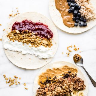 Grab and Go Gluten-Free Breakfast Wraps (3 Ways). These sweet Gluten Free breakfast wraps are the perfect grab and go breakfast! Portable, freezer friendly, and filled with wholesome simple ingredients!