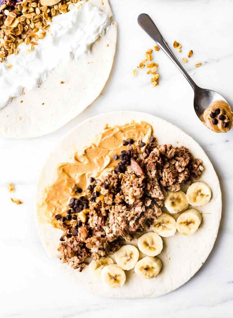 These sweet Gluten-Free breakfast wraps are the perfect grab and go breakfast! Portable, freezer friendly, and filled with wholesome simple ingredients! Literally a healthy breakfast bowl wrapped up to go; 3 ways! Healthy breakfast wraps that will satisfy your hunger on a busy schedule.