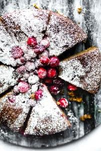 Cranberry Sour Cream Almond Cake {Grain-Free}
