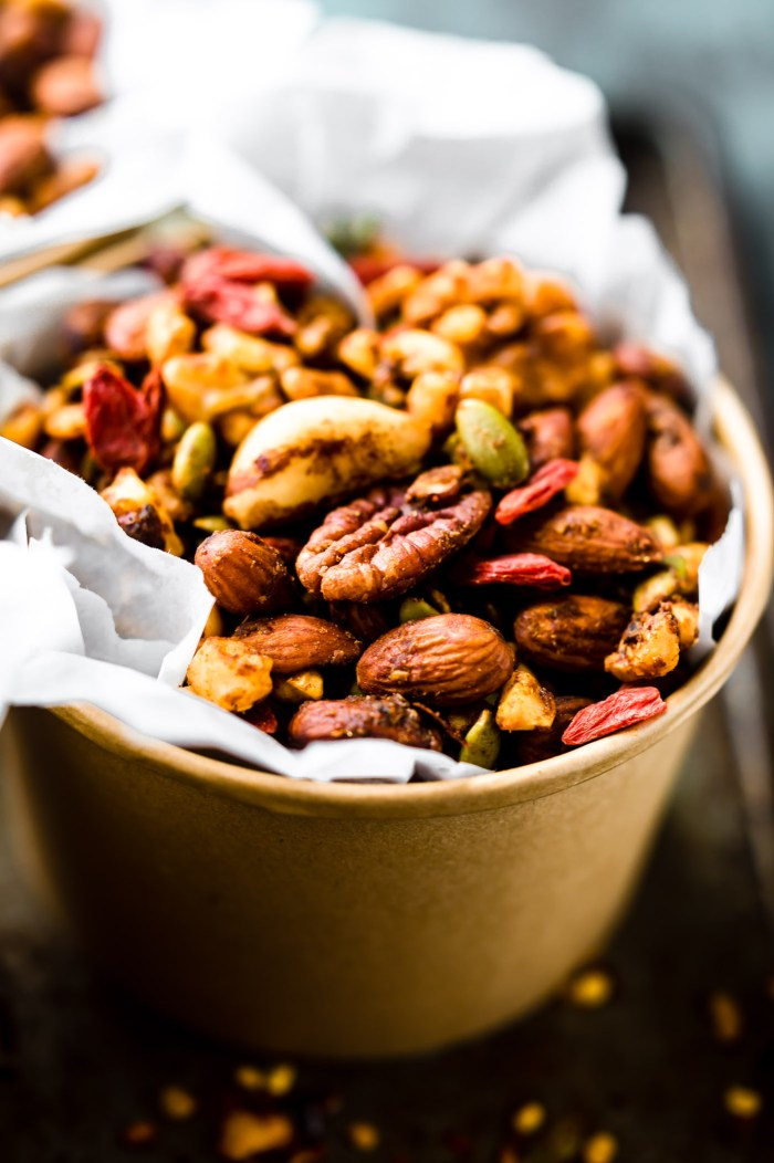 This Thai Curry Spiced Slow Cooker snack mix in cup