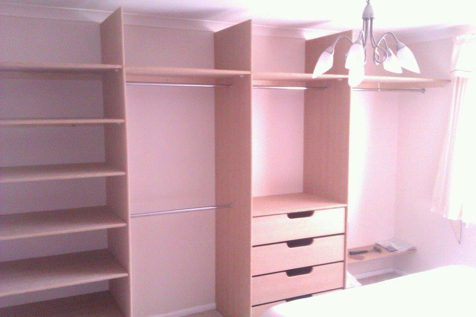 X4 Sliding Door Wardrobe With Built In Rails And Drawers Cotterell Carpentry