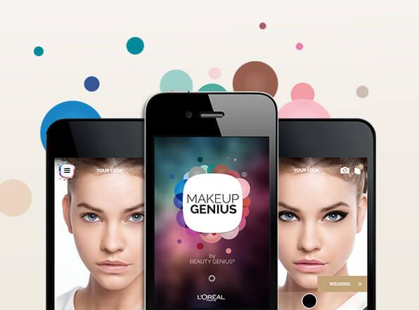 L'application qui vous fait essayer du make up sans bouger de votre canapé. crédit photo L'oréal Paris USA