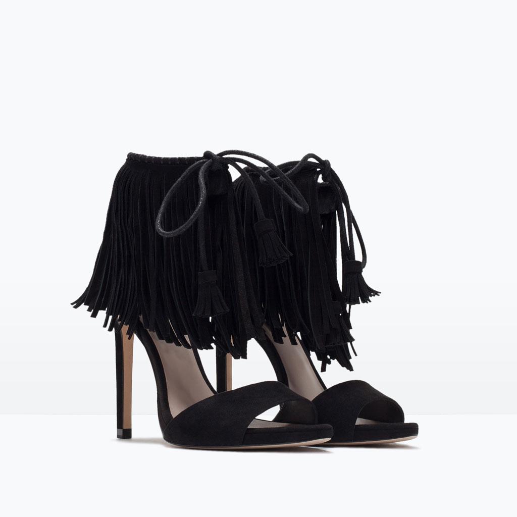sandales à franges zara