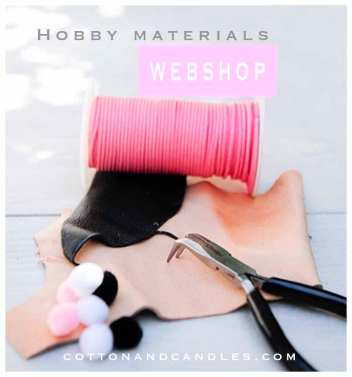 Cottonandcandles.com, webshop for hobby materials like knitting, crochet, beading